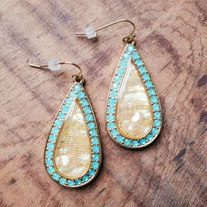 + to bundle for $5! Abalone statement earrings